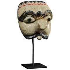 First Half 20th C, Java Indonesia, Old Topeng Theatre Dance Mask