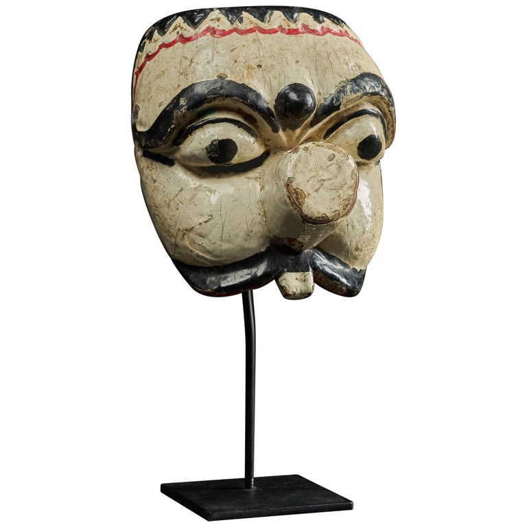 First Half 20th C, Java Indonesia, Old Topeng Theatre Dance Mask  For Sale