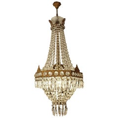 First Half of the 20th Century Crystal Chandelier