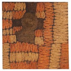 First Half of the 20th Century Resist-Dyed Raffia Fiber Panel, Ivory Coast
