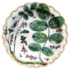 First Period Worcester Blind Earl Porcelain Dish, circa 1770