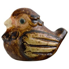Fischer Stengods, Unique Bird in Glazed Stoneware, 1960s