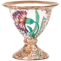 Fischer Vilmos Floral Decorated Porcelain Eggcup, circa 1890