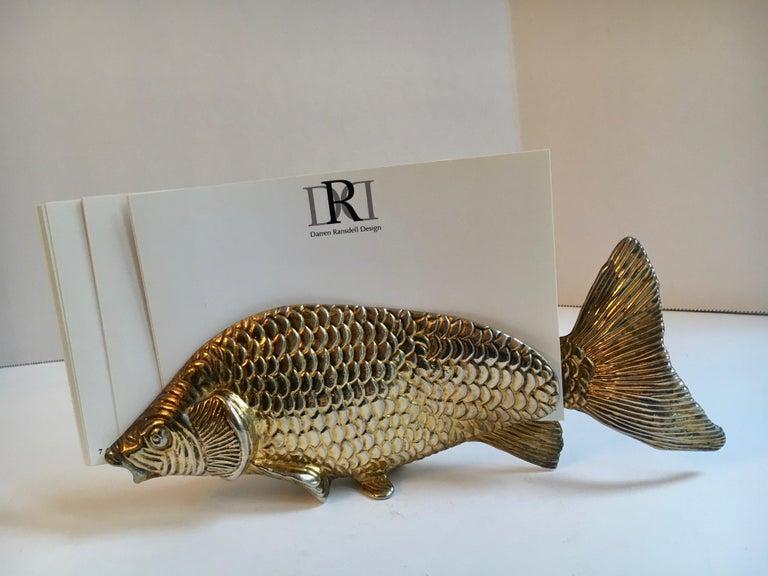 20th Century Fish Letter Holder Desk Accessory For Sale