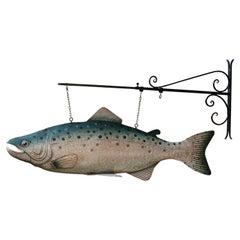 Fish Model Display Shop Sign in Metal
