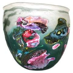 Fish Music Glass Vessel by Tomas Tisch, 2000