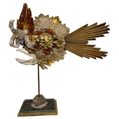 Fish Sculpture from Italy Made of Fragments from the 18th and 19th Century