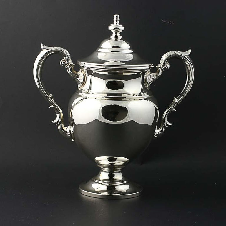 Fisher Silversmiths 5 Piece Tea Coffee Service Set Sterling Silver 2311 In Excellent Condition For Sale In Greensboro, NC
