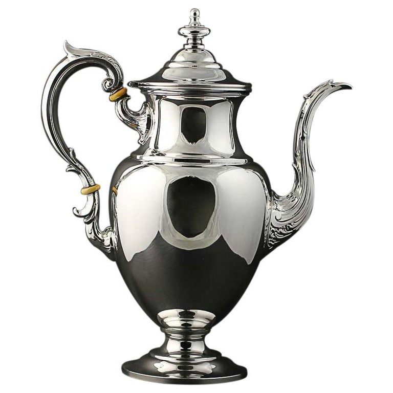 Fisher Silversmiths 5 Piece Tea Coffee Service Set Sterling Silver 2311 For Sale