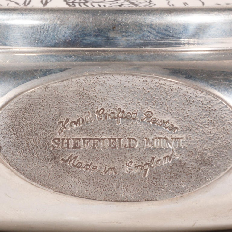 English Fisherman's Vintage Sheffield Flask For Sale