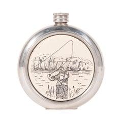 Fisherman's Vintage Sheffield Flask