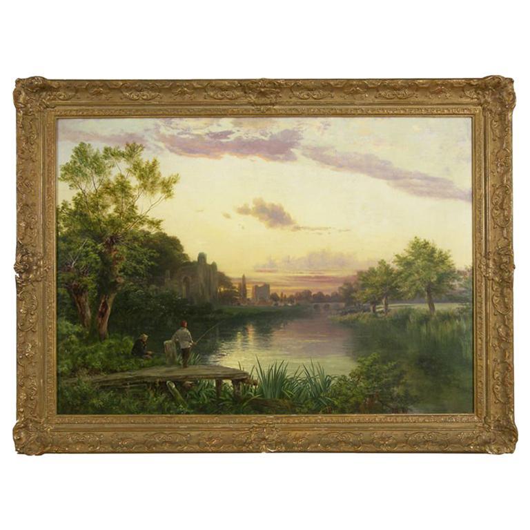 """""""Fishing along the River"""" by Joseph Paul Pettitt"""