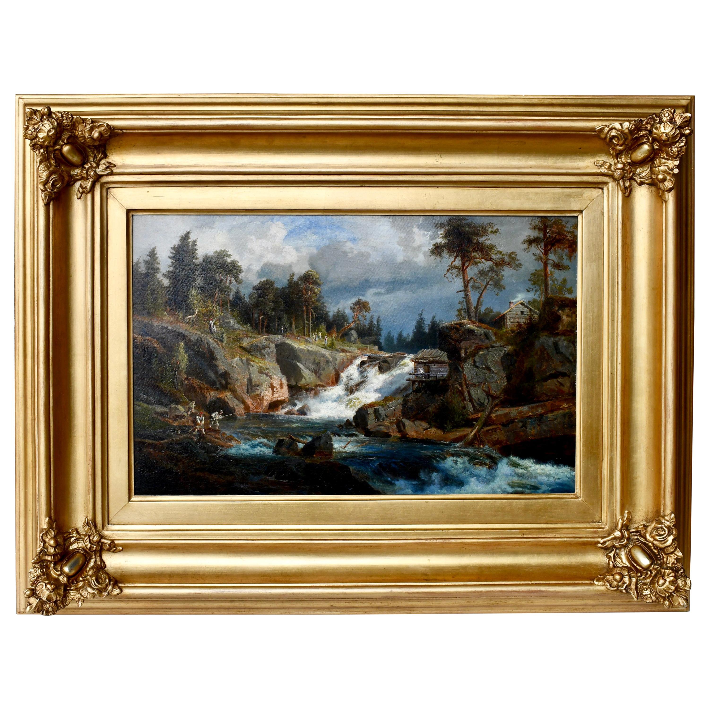 """Fishing in the Rapids"" by Gustaf Fredrik Rydberg"