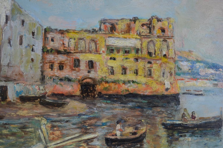 Other Fishing off the Coast of Naples by Landscape Artist Attilio Pratella For Sale