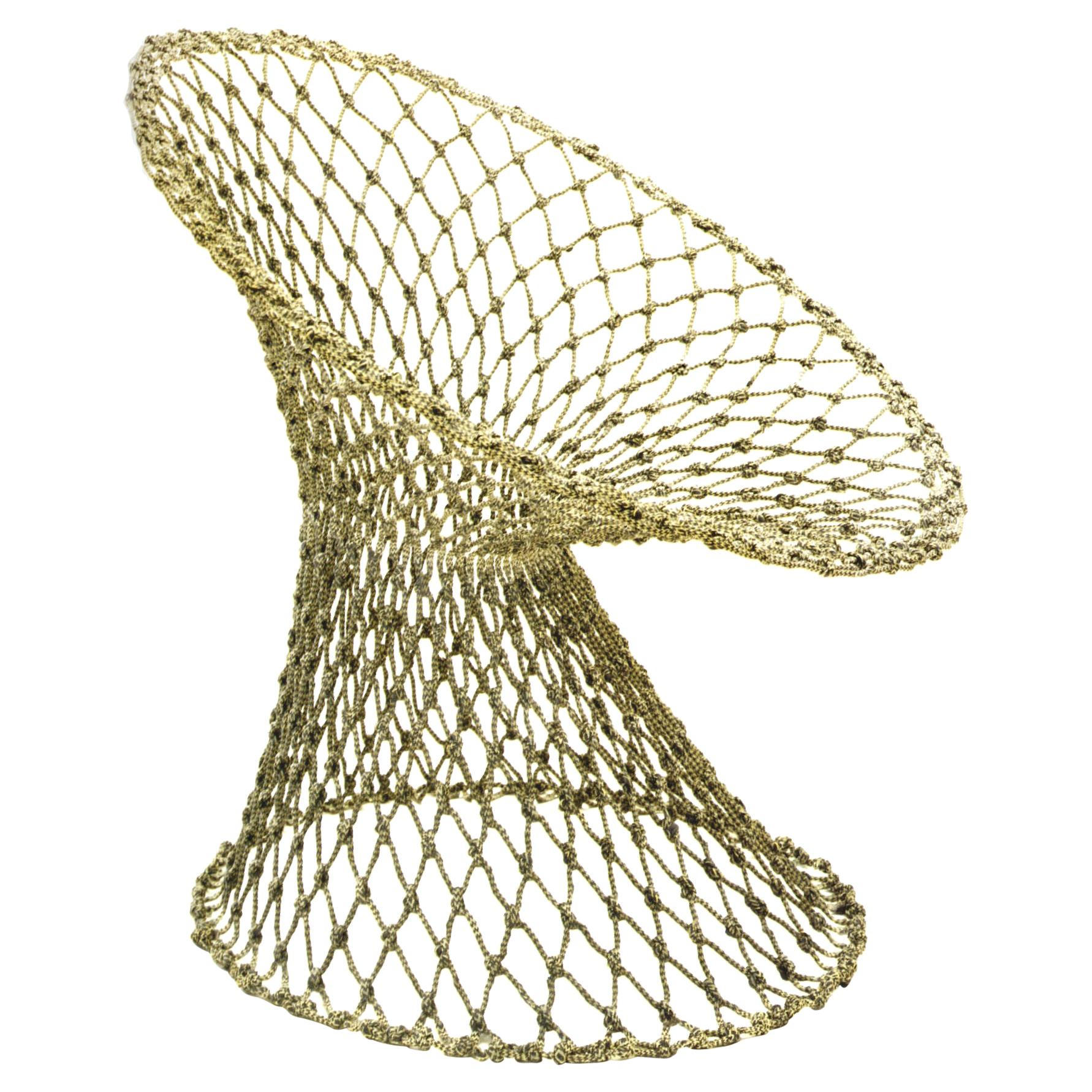 Fishnet Chair, by Marcel Wanders, Hand-Knotted Chair, 2001, Green