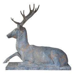 Fiske Zinc Reclining Deer