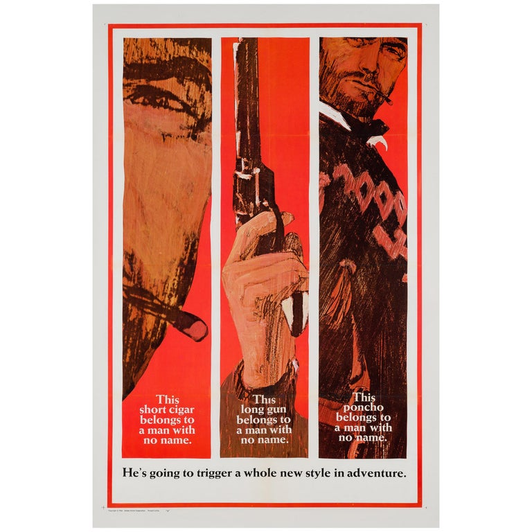 """""""Fistful of Dollars"""", US Film Poster, 1967 For Sale"""