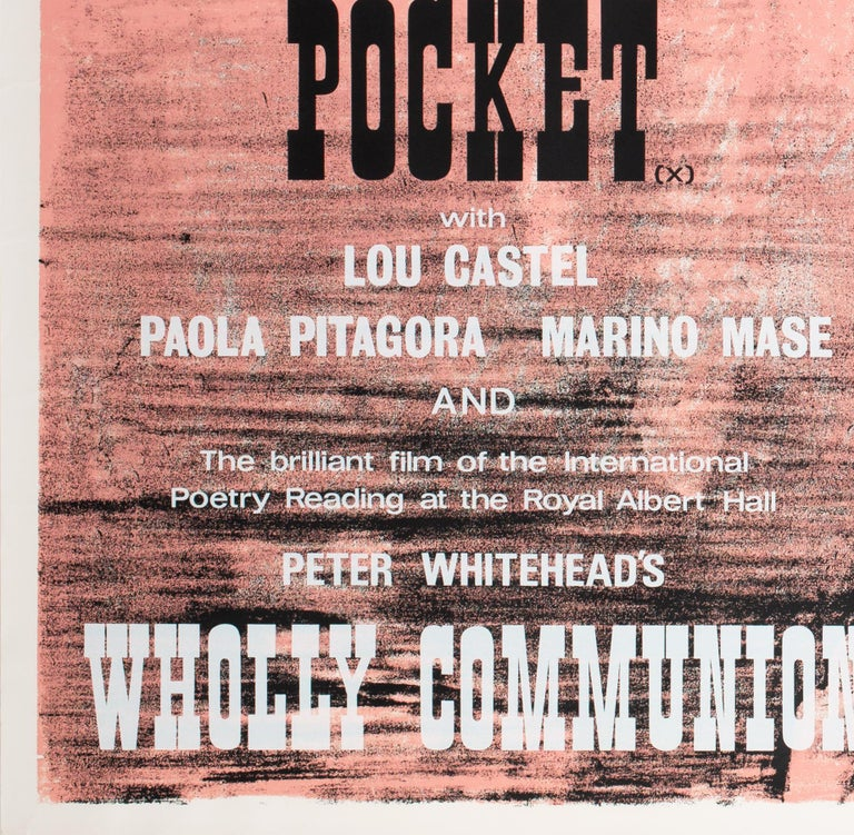 Paper Fists in the Pocket 1966 Academy Cinema UK Quad Film Movie Poster, Strausfeld For Sale