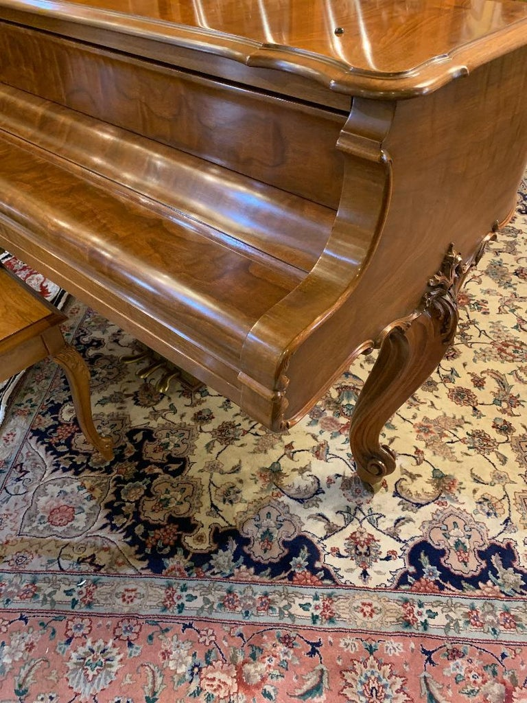 Fit for a King Steinway Louis XV Grand Piano in Beautiful Circassian Walnut For Sale 4