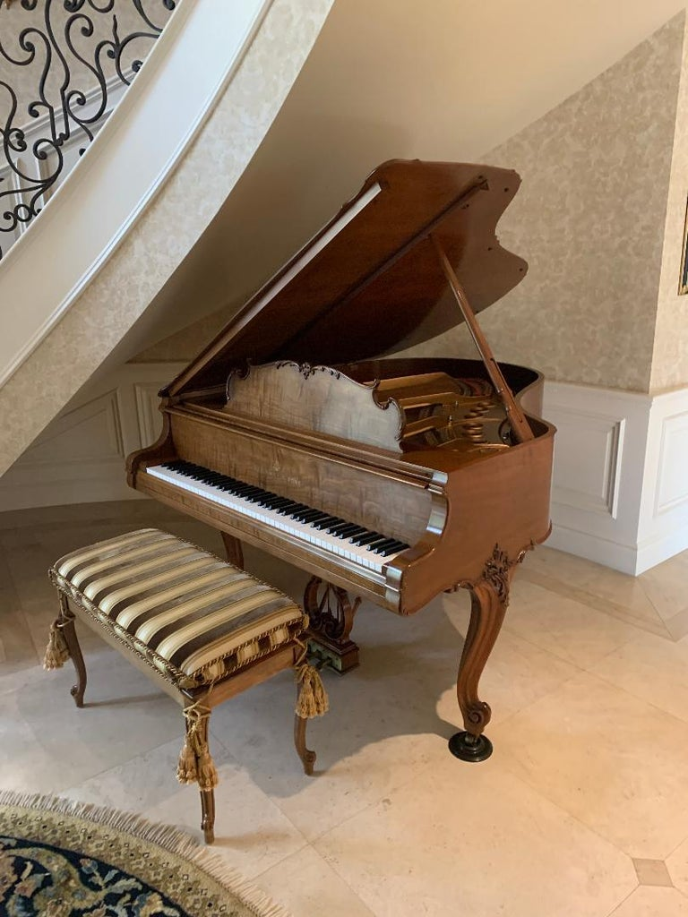 Fit for a King Steinway Louis XV Grand Piano in Beautiful Circassian Walnut For Sale 13