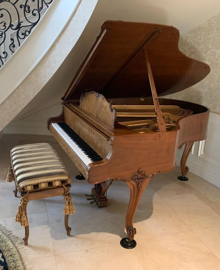 American Fit for a King Steinway Louis XV Grand Piano in Beautiful Circassian Walnut For Sale