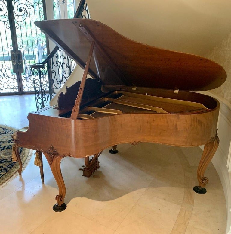 Hand-Crafted Fit for a King Steinway Louis XV Grand Piano in Beautiful Circassian Walnut For Sale