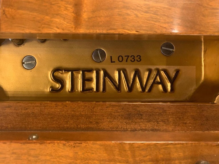 Fit for a King Steinway Louis XV Grand Piano in Beautiful Circassian Walnut In Good Condition For Sale In Tustin, CA