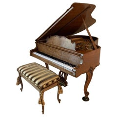 Fit for a King Steinway Louis XV Grand Piano in Beautiful Circassian Walnut