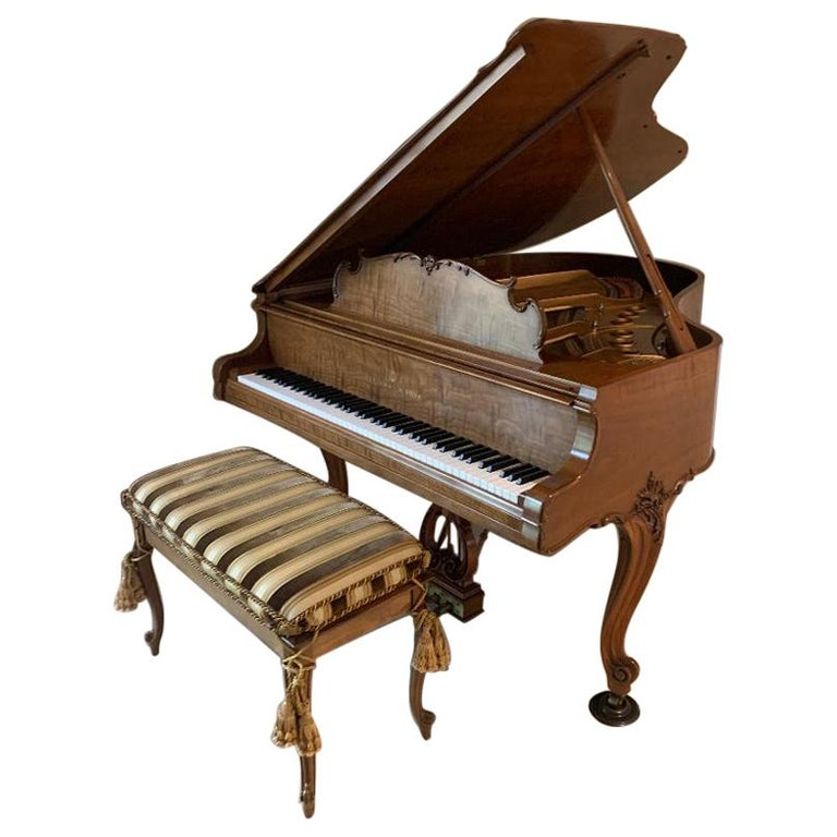 Fit for a King Steinway Louis XV Grand Piano in Beautiful Circassian Walnut For Sale