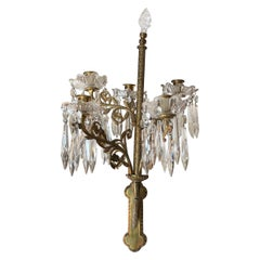Fit for Royalty Ornate Cast Bronze and Crystal Candle Sconces