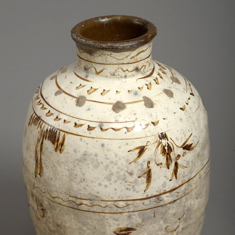 Fired Five 16th Century Ming Period Cizhou Vases For Sale
