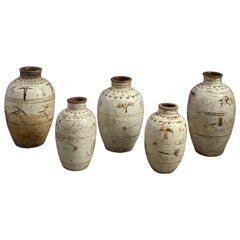 Five 16th Century Ming Period Cizhou Vases