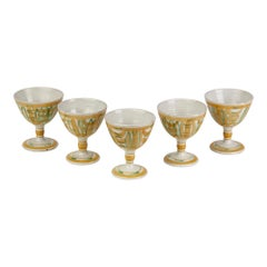 Five Alan Caiger Smith Homer Street Studio Pottery Goblets, circa 1960