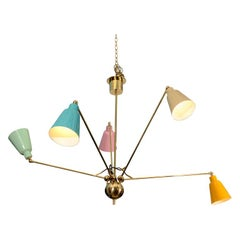 Five-Arm Adjustable Ceiling Fixture by Fedele Papagni