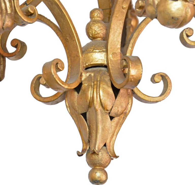 Five-Arm French Chandelier In Excellent Condition For Sale In Minneapolis, MN
