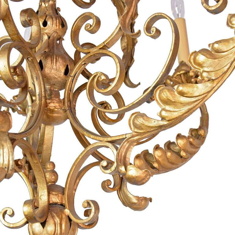 Five-Arm French Chandelier For Sale 1
