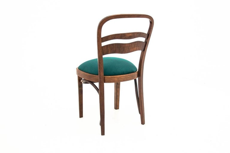 Polish Five Art Deco Dining Room Chairs For Sale