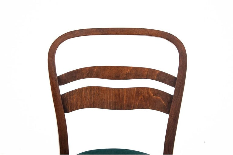 Mid-20th Century Five Art Deco Dining Room Chairs For Sale