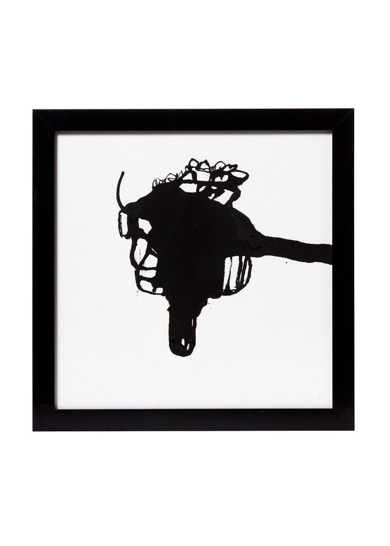 Contemporary Five Black Ink on White Paper by Artist, Greg Dickerson For Sale