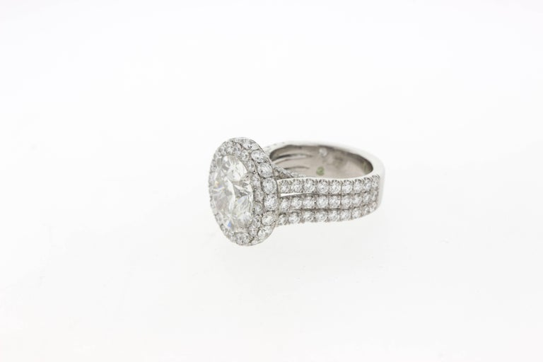 5 Carat Custom Diamond and Platinum Engagement Ring (GIA) In New Condition For Sale In Los Angeles, CA