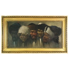 Five Cossacks Oil Painting on Board