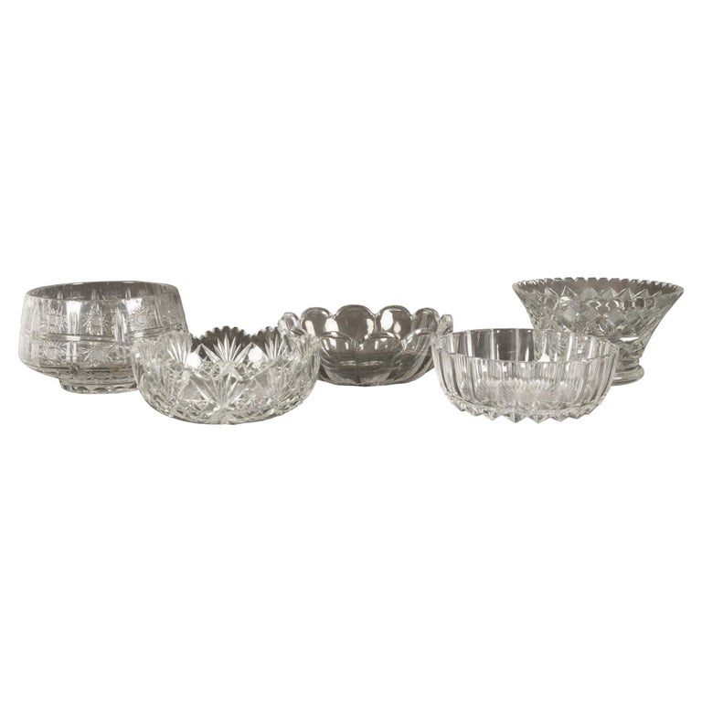 Five Crystal Bowls For Sale