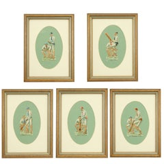 Five Cut-Out Cricket Pictures