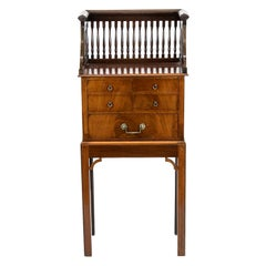 Five Drawer Book Stand on Mahogany Stand