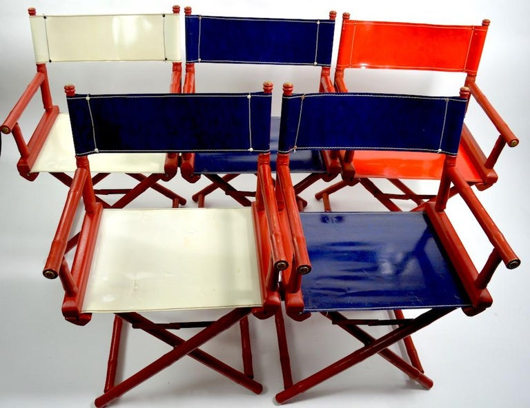 Five Folding Campaign Chairs by Telescope For Sale 5