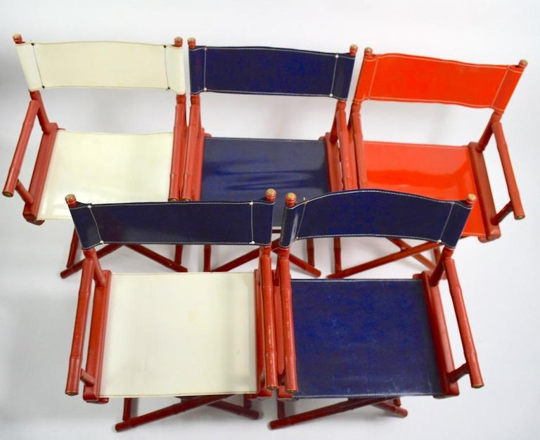 Five Folding Campaign Chairs by Telescope For Sale 6
