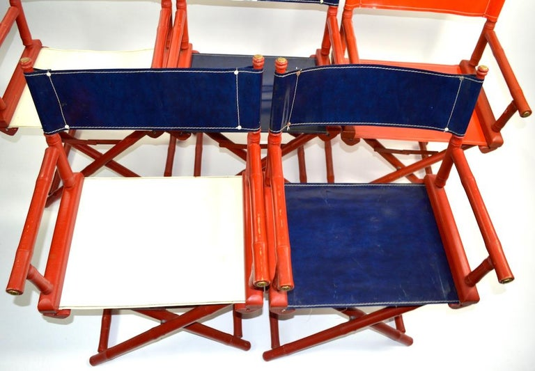 Five Folding Campaign Chairs by Telescope For Sale 7