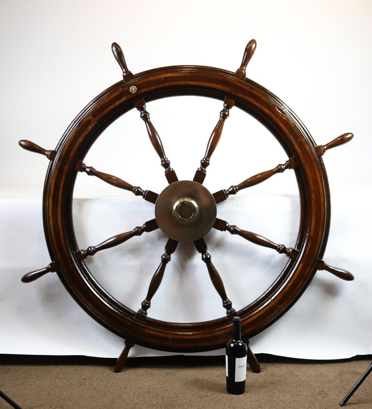 20th Century Five-Foot Ship's Wheel For Sale