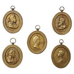 Five French Bronze Plaques, circa 1790-1800
