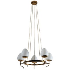Five Globe Chandelier by Stilnovo